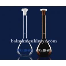 Isolab | Balon Joje - Amber - Grup Sertifikalı - A Kalite - Beyaz Skala - 1000ml -  NS 24/29 (2 adet / paket)